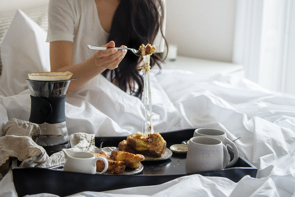 breakfast in bed // bacon & cheese stuffed french toast | Flickr