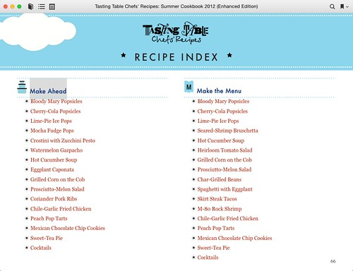 Tasting Table Chefs' Recipes: Summer Cookbook 2012 | by bm.iphone