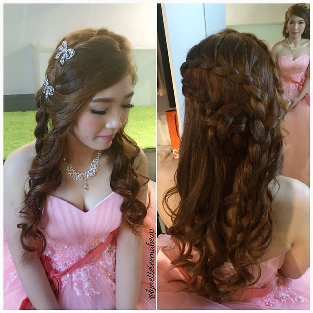 Brilliant Princess Braided Hairstyle For Wedding Dinner Bride Ei L Flickr Short Hairstyles Gunalazisus