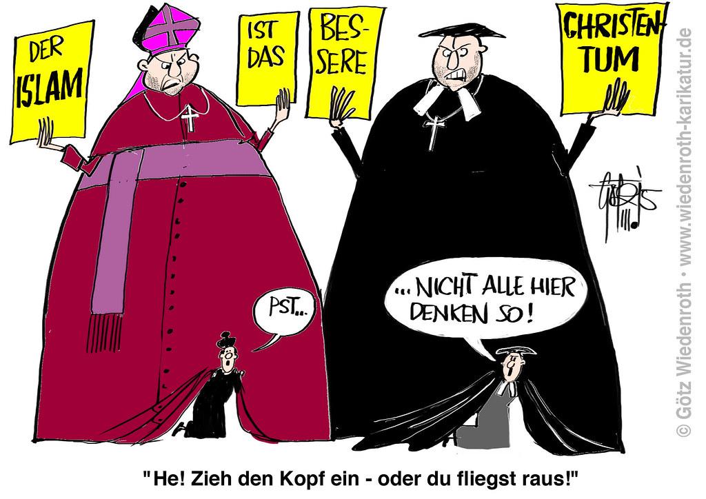 Bildergebnis für kirche-islam karikaturen