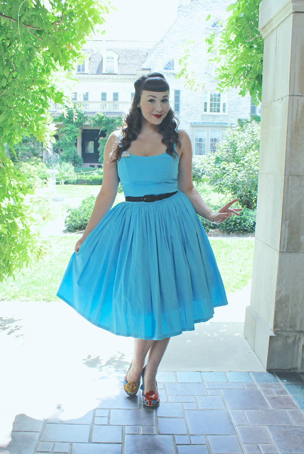 Pinup Couture Pinup Girl Clothing Jenny Dress Sky Blue