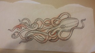 octopus tattoo design by Amy Nicoletto