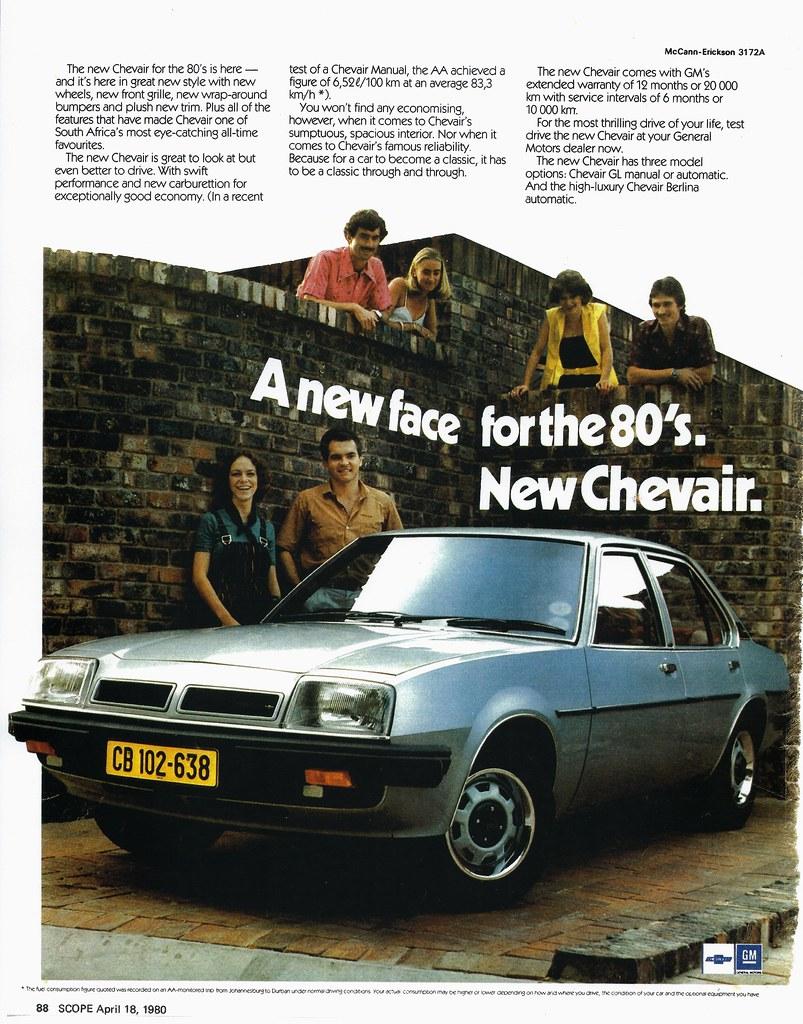 1980 Chevrolet Chevair South Africa In 1980 Gmsa Was