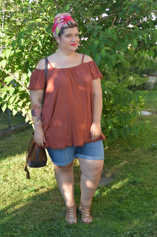 Outfit plus size shorts (3)