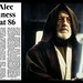 5th August 2000 - Death of Sir Alec Guinness