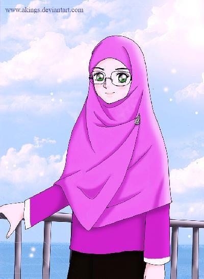Gambar Kartun Muslimah Ika Puji Maryanti Flickr Foto Berkacamata