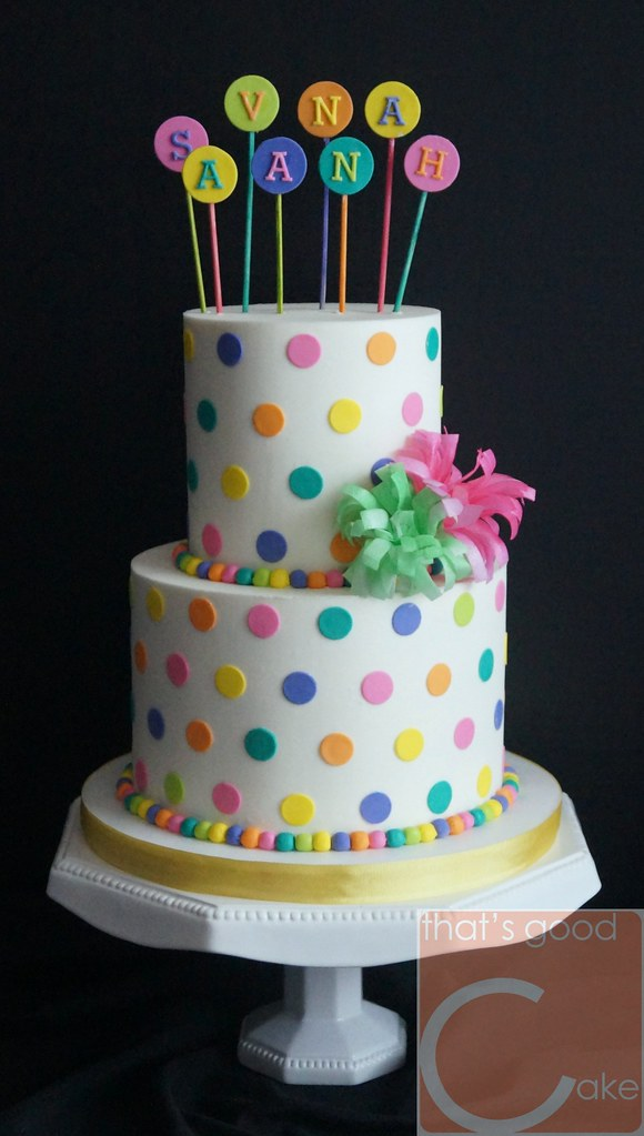 Candy Themed Birthday Cake 58 Buttercream Torted And Ic Flickr