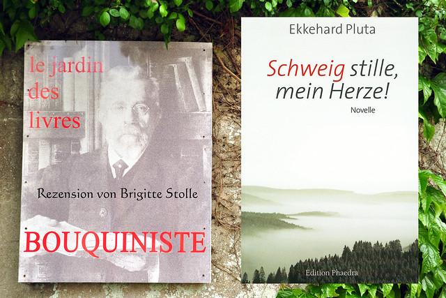Im Bretagne-Urlaub 2016 gelesen: Schweig stille, mein Herze - Novelle von Ekkehard Pluta - Rezension: Brigitte Stolle