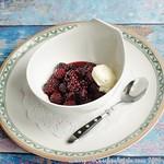 Rezepte mit Brombeeren:Karamellisiertes Brombeerkompott