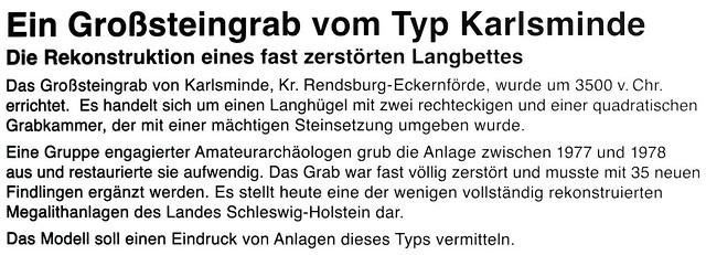 Archäologisches Landesmuseum Schloss Gottorf in Schleswig ... Großsteingrab Typ Karlsminde ... Langbett ... Hünengrab ... Karla Kunstwadl ... Fotos: Brigitte Stolle 2016