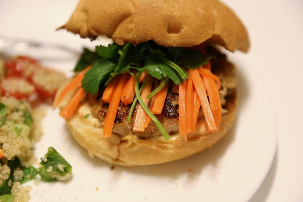 Banh Mi Burger & Quinoa Tabbouleh | Banh Mi Burger & Quinoa ...