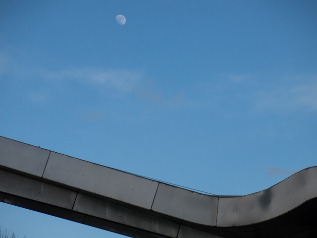 Moon and bus station