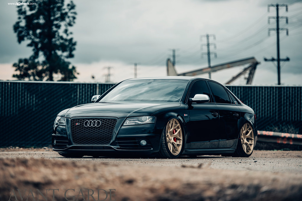 M590 Brushed Champagne Audi B8 S4 Low Avant Garde Wheels