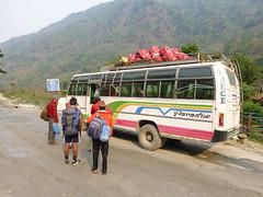 Unser Bus nach Bensisahar