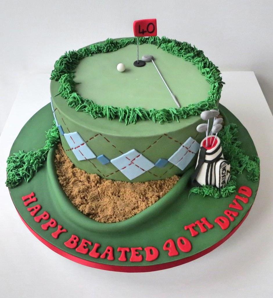 40th Golf Themed Birthday Cake A Cherry On Top Scotland Flickr