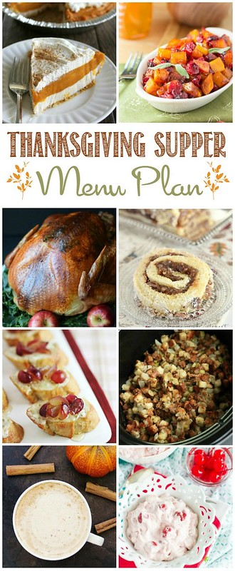 Thanksgiving Supper Menu Plan collage.