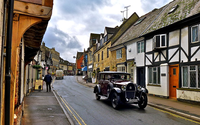 A fine old car...a historical old town