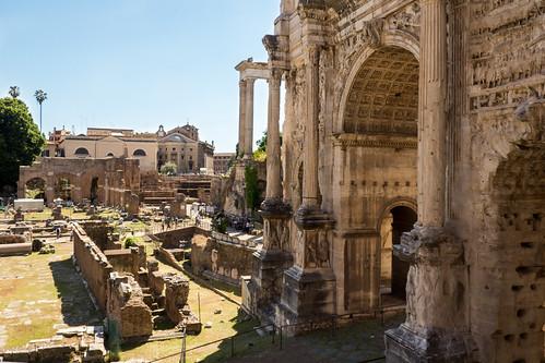 Arch Of Septimius Severus In The Roman Forum Arch Of