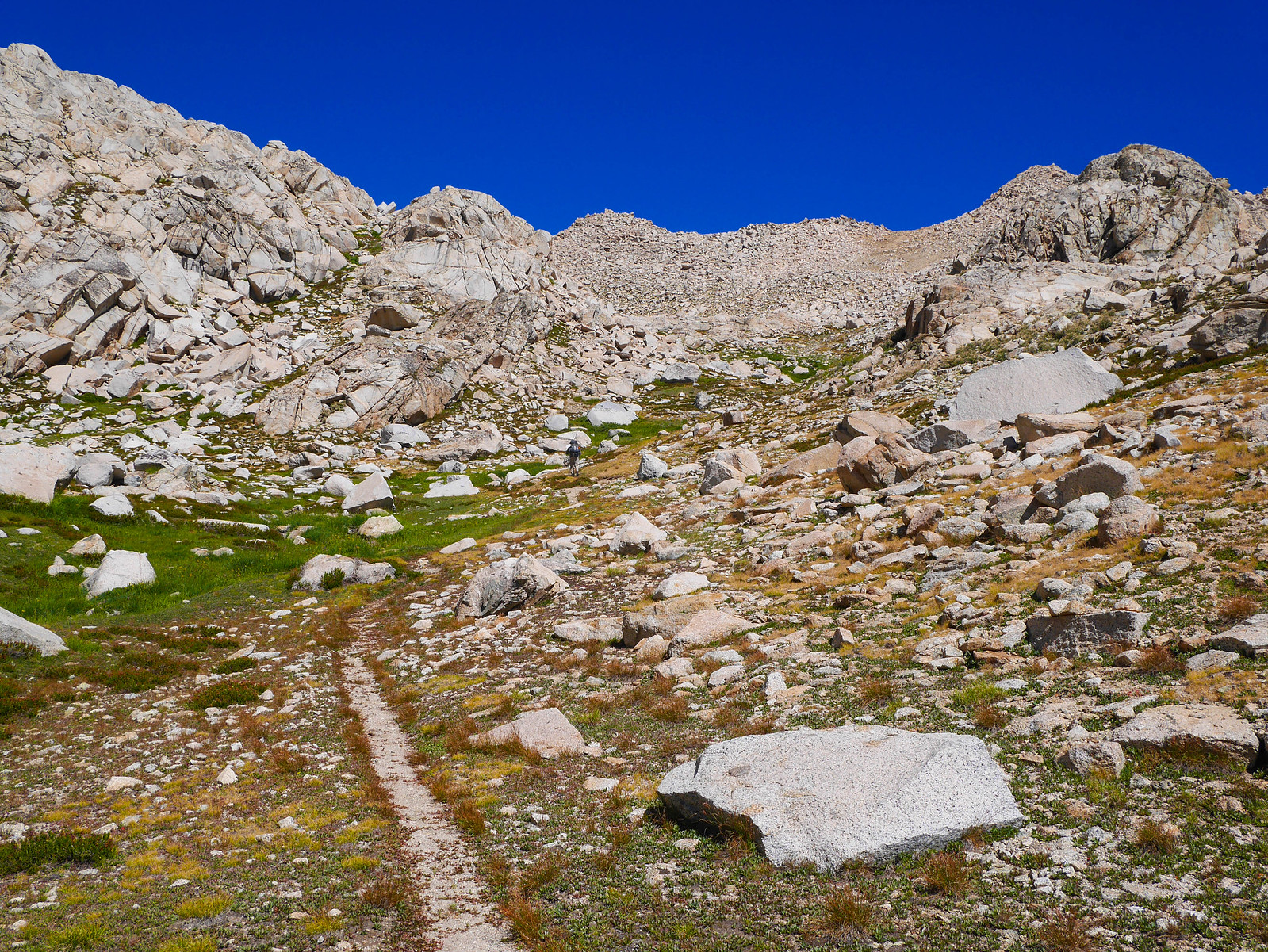 Looking up towards Colby Pass