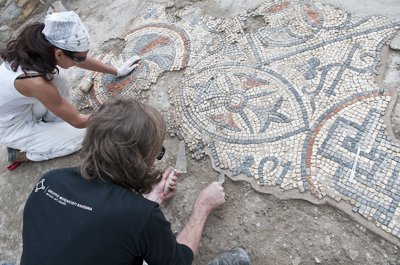 Paleochristian Mosaics of the Basilica Complex in Aquileia, ITALY