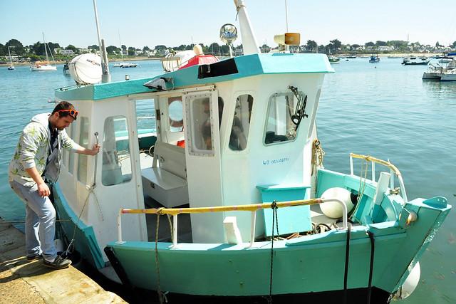 Bretagne - Golfe du Morbihan - Überfahrt Port Navalo - Locmariaquer ... Foto: Brigitte Stolle 2016