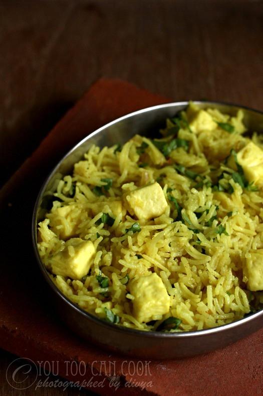 paneer pulao rice