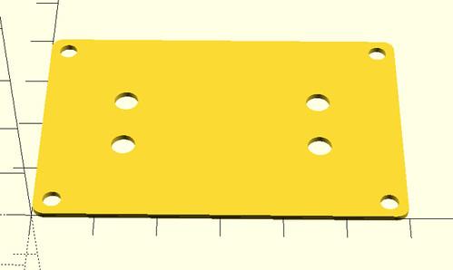 Breadboard sled in OpenSCAD