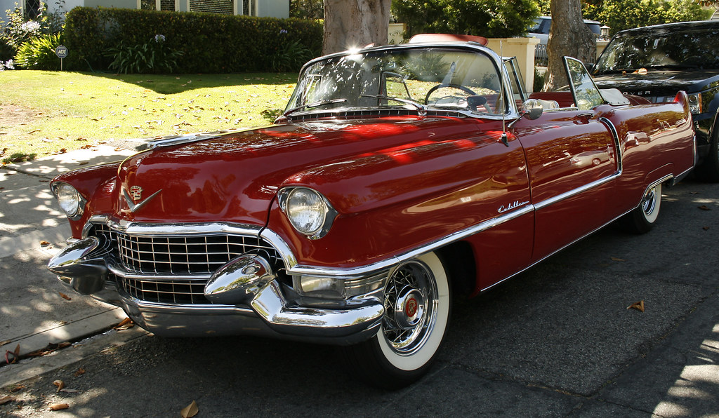 Red v w vintage convertible