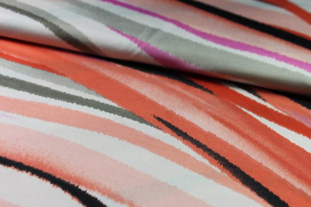 "Feinjersey ""Wellen"", lachs-pink (Batik-Stil)"