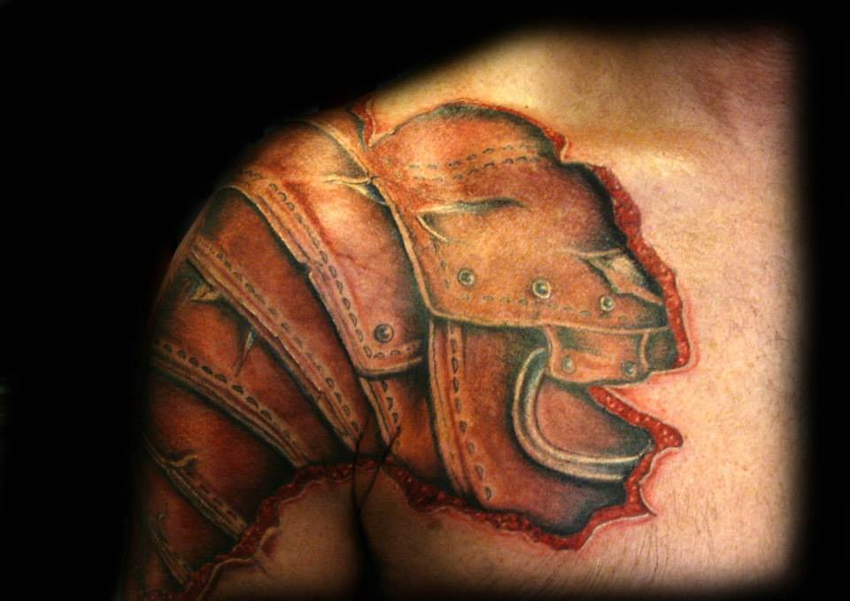 Armor Chest Plate Tattoo Roman By Ray Tutty