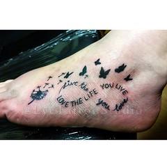 Love The Life You Live Live The Life You Love Tattoo T Flickr