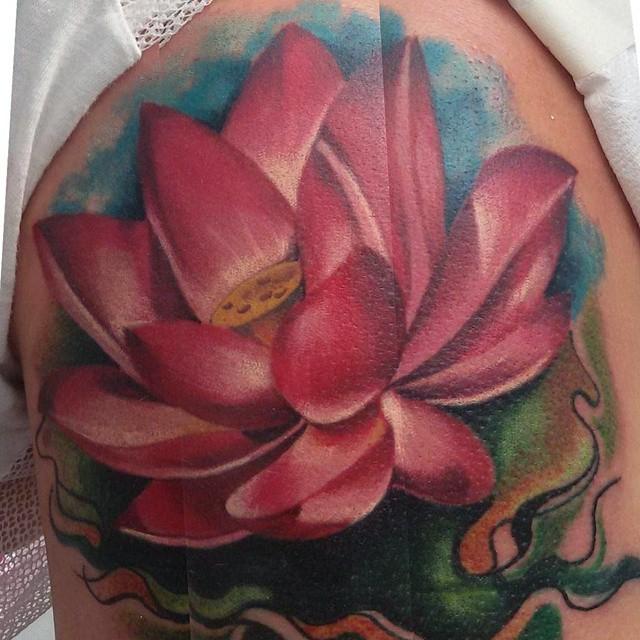 Flor De Loto Tattoo Tattoo Tatuaje Tinta Ink Skin Sk Flickr