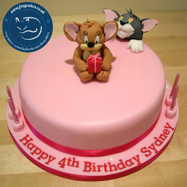 Tom and Jerry Themed Birthday Cake cake thefoxycakeco Flickr