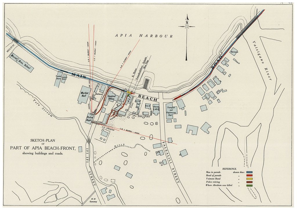 Map of Black Saturday 28 December 1929 Samoa On 28 Decem Flickr