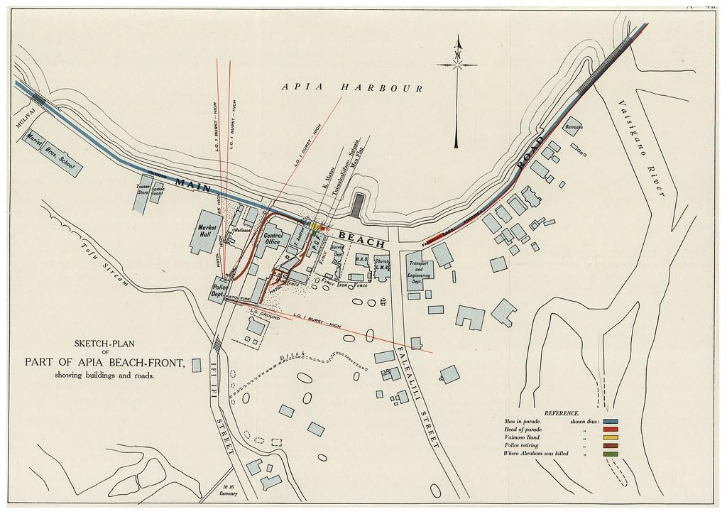 map of black saturday  28 december 1929  samoa on 28