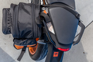 KTM Duke 390 2014, with ViaTerra Velox Saddlebags (top view, 1 bag mounted) | by demawo