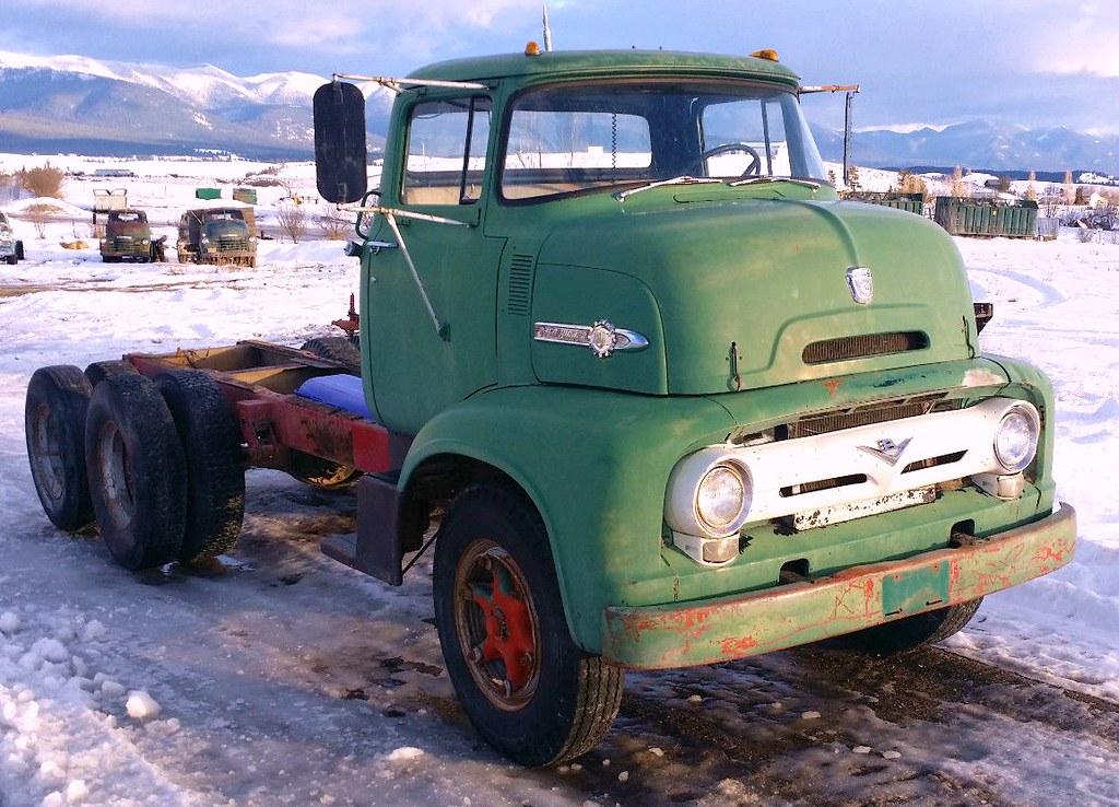 1956 Ford C750 Big Job Tandem truck   Found on Ebay; big old…   Flickr