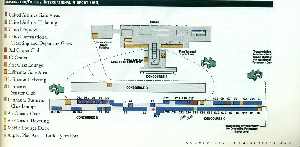 United Dulles diagram, August 1998 | A United Airlines diagr… | Flickr