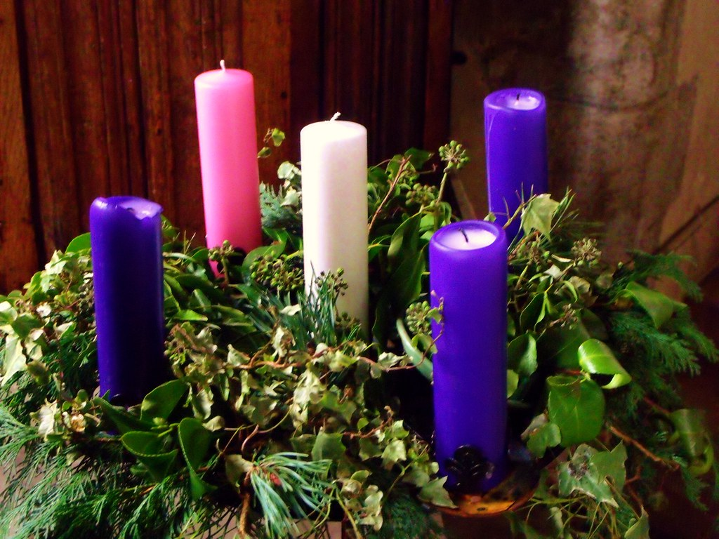 Advent Candles St Mary S West Chiltington The Purple