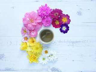 Cup of Tea with Flowers | by Lucy Djevdet