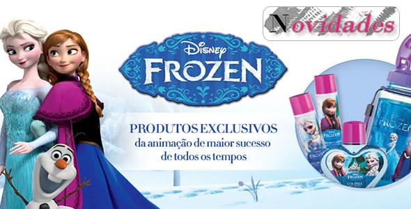 Os personagens de Frozen um dos maiores sucessos da Disney invadem o folheto Moda&Casa
