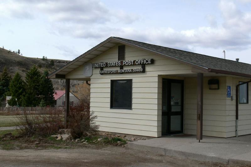 Raynesford Mt Post Office Judith Basin County Photo By