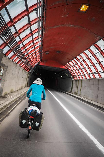 Tunnels on Route 229 around the Japan Sea coast, Hokkaido, Japan