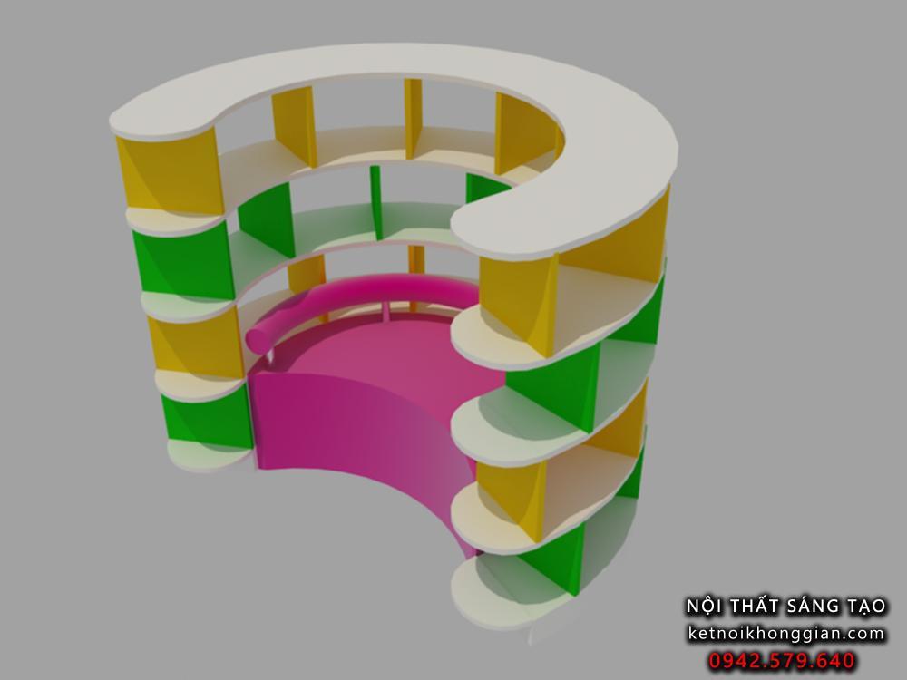thiết kế nội thất sáng tạo cho nhà sách