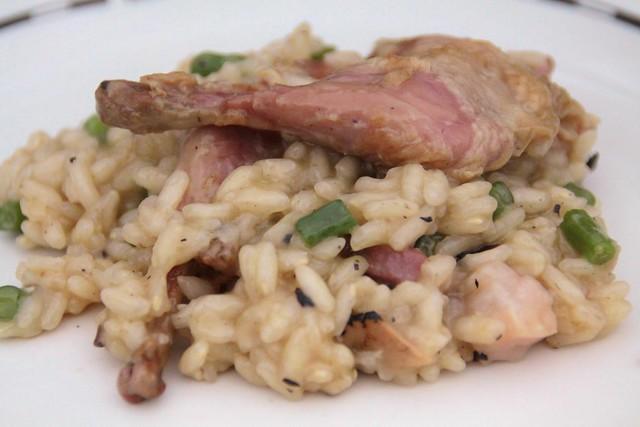 risotto met truffel en kwartel