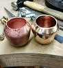 Bronze 'acorn' pot