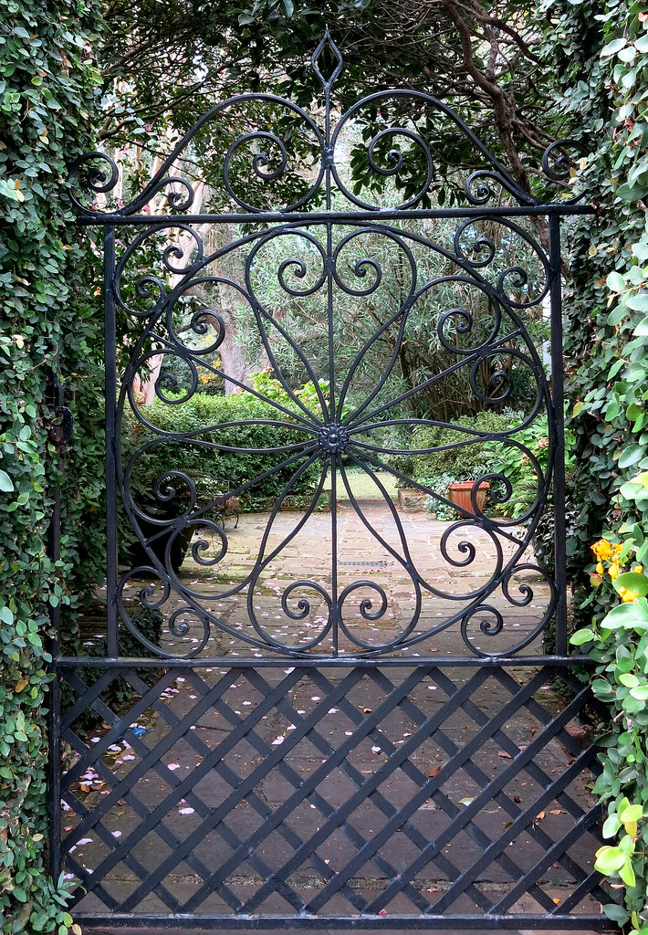 Beau ... Wrought Iron Garden Gate, Charleston, SC | By Spencer Means