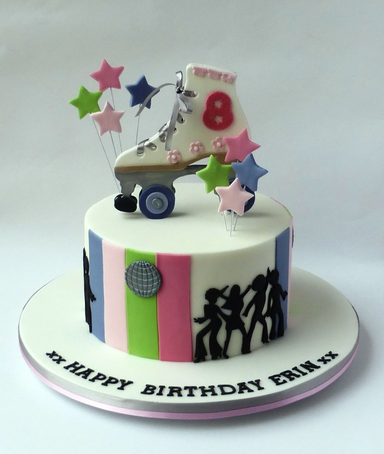 Roller Disco Birthday Cake For Erins 8th Birthday Her Par Flickr