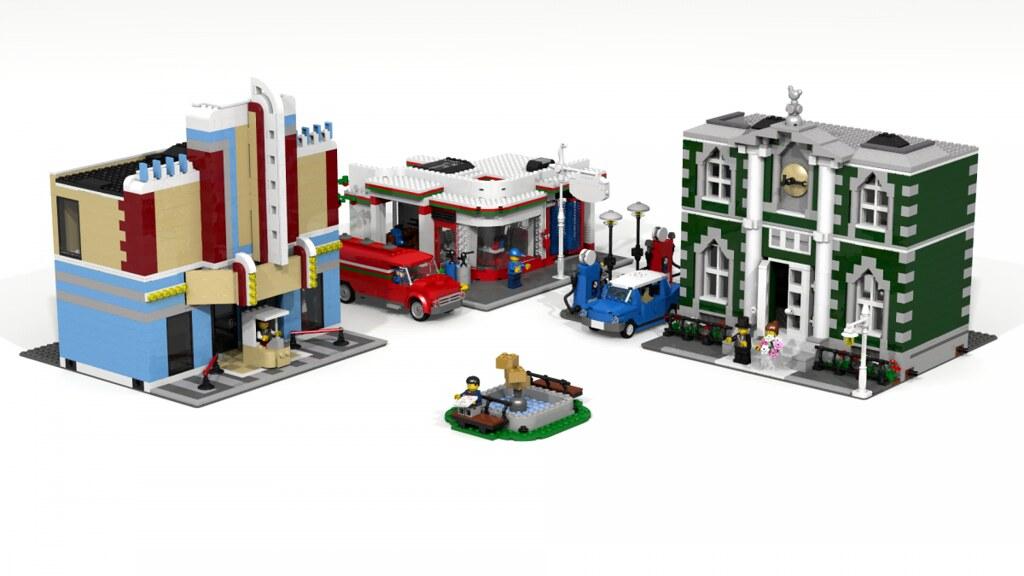 Town Plan Modular Standard Ldd Building Instructions B Flickr