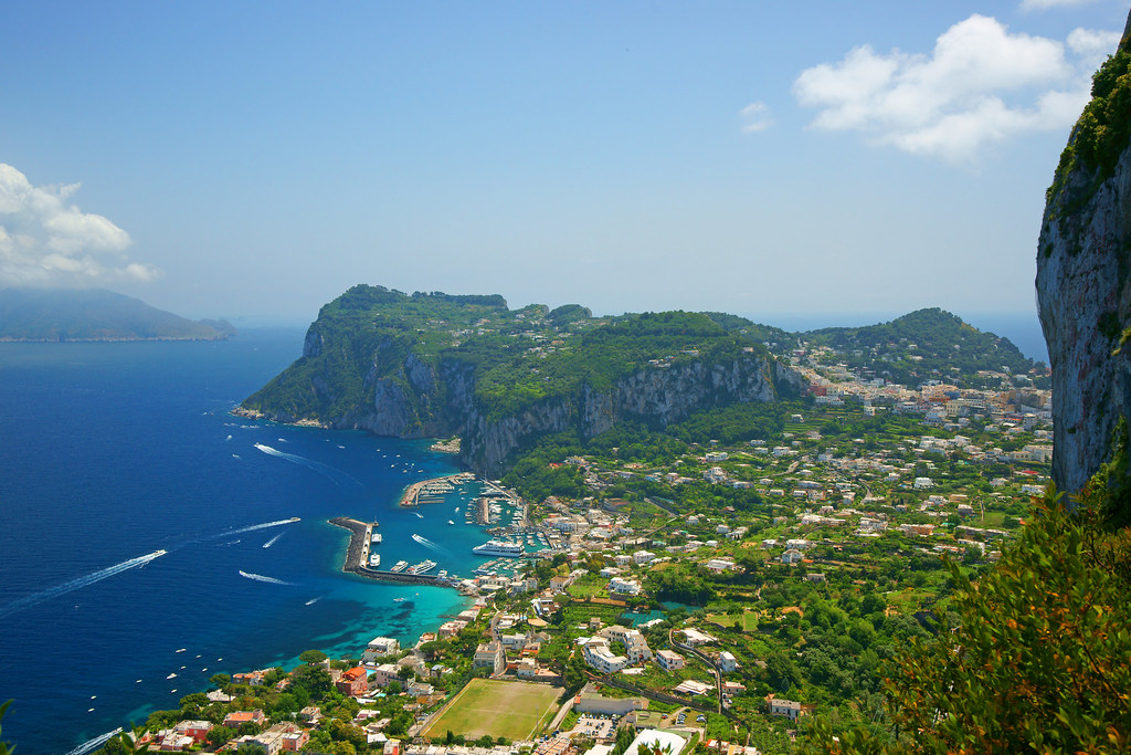A view of Marina Grande as seen from Anacapri,  Capri, Italia, Italy